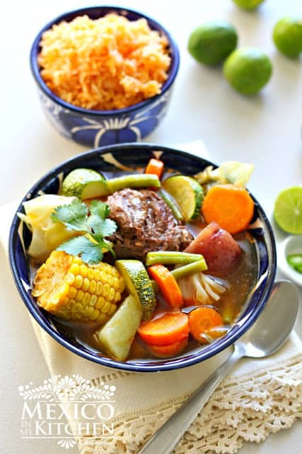 Caldo de res, Mexican beef and vegetables soup recipe