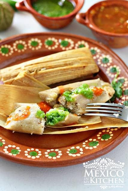 salsa verde chicken tamales recipe - Kitchen Chicken