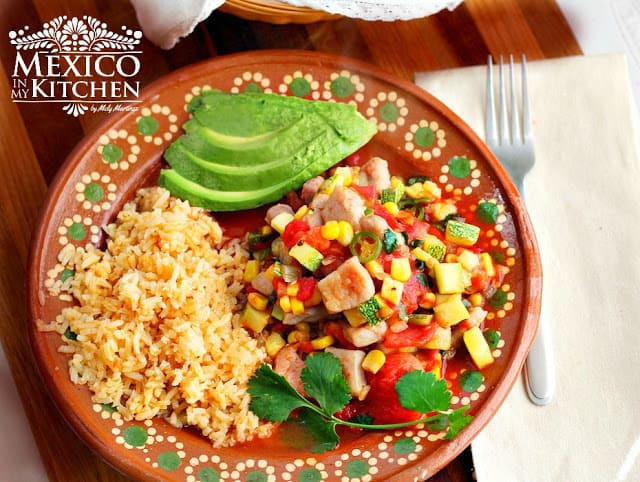 Pork with Zucchini and Corn Stew | Calabacitas Con Puerco y Elote