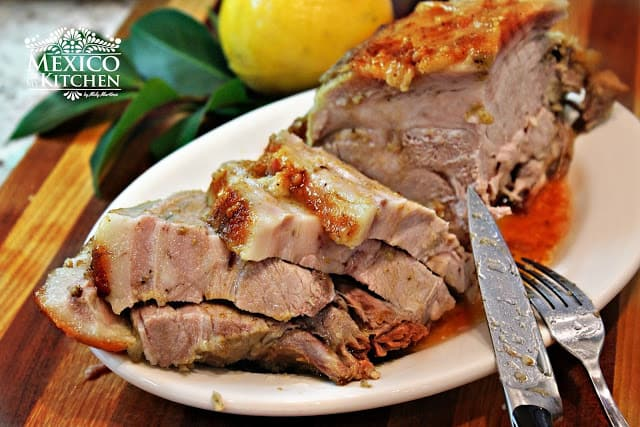 Mexican Christmas Dishes, Easy Roasted Pork Leg