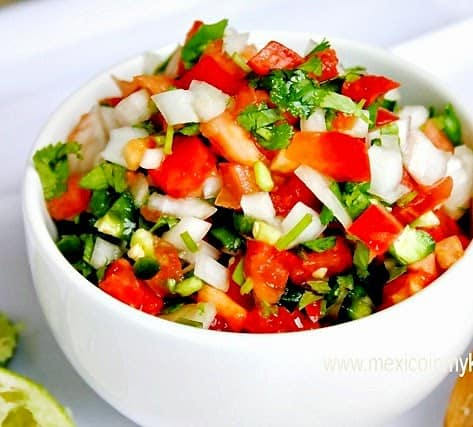 Pico de Gallo Salsa - Salsa Mexicana | Mexican Game Day Recipes