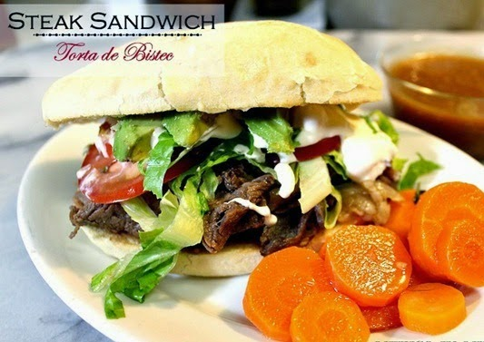 Steak Sandwich - Torta de Bistec | Mexican Game Day Recipes
