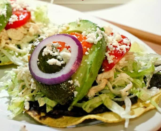 Chicken Tostadas - Tostadas de Pollo | Mexican Game Day Recipes