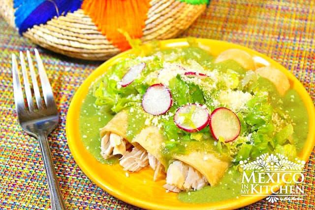 Poblano Peppers Enchiladas Recipe | Mexican Recipes