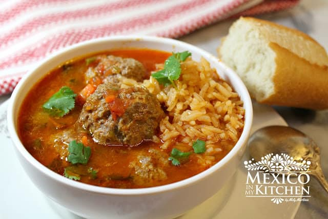 Mexican Meatball Soup Recipe | Mexican Recipes | 3