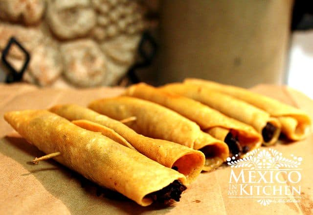 Recipes to Celebrate Mexico flautas crispy tacos