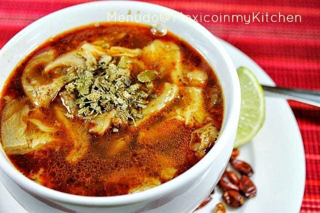 Beef tripe Soup Mexican menudo