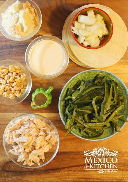 Poblano Peppers Enchiladas Recipe | Ingredients