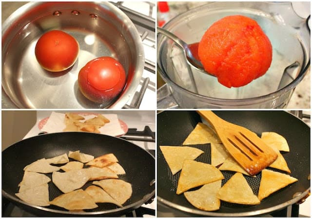 Chipotle Chilaquiles Recipe | step by step instructions with photos of the process.