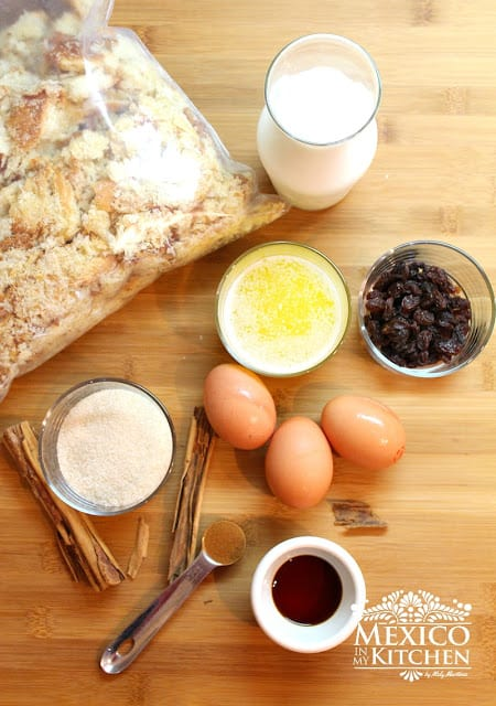 Mexican Bread Pudding | Ingredients