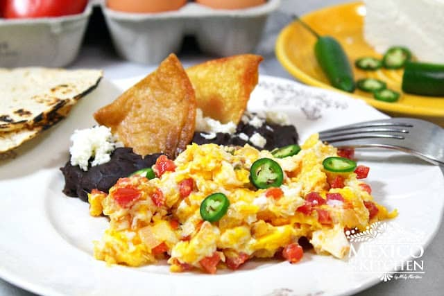 Mexican Style Scrambled Eggs Recipe | Authentic Mexican Food Recipes