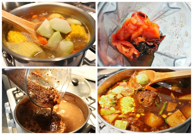 Mole de olla recipe | step by step instructions with photos of the process.