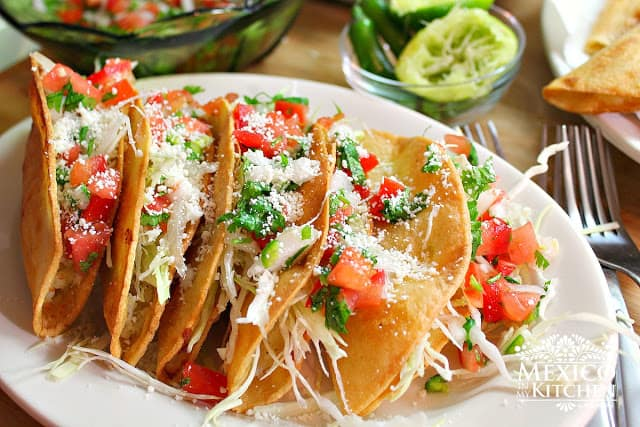 Crispy Potato Tacos | Authentic Mexican Food Recipes