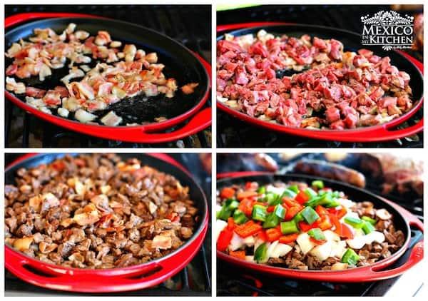 Tacos de alambre recipe | Step by step instructions