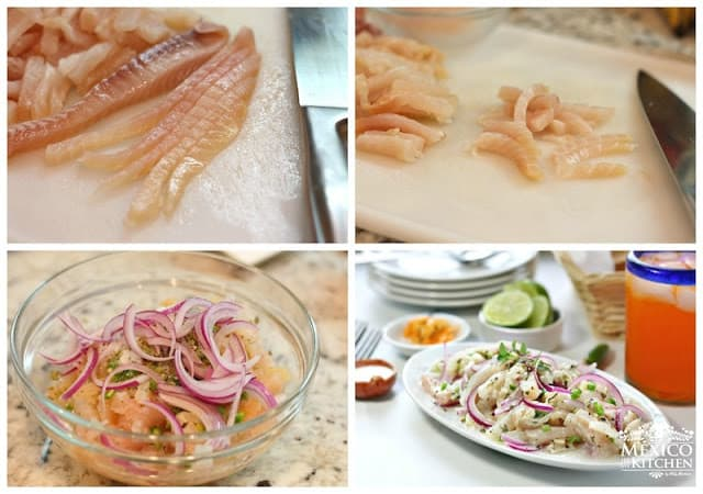 Tiritas de pescado Zihuatanejo recipe | instructions step by step