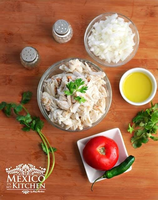 Crab empanada recipe   Ingredients