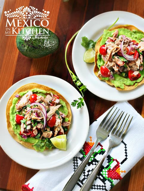 Canned Tuna Ceviche Tostadas | Mexican Recipes