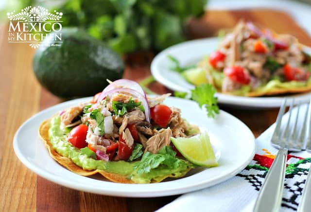 Canned Tuna Ceviche Tostadas | Authentic Mexican Food