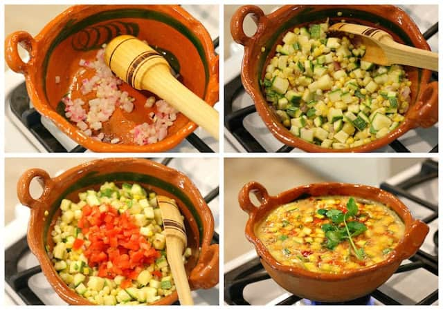Corn and Zucchini Soup | instructions step by step