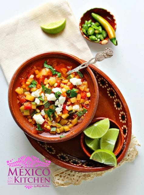 Corn and Zucchini Soup | Mexican Recipes