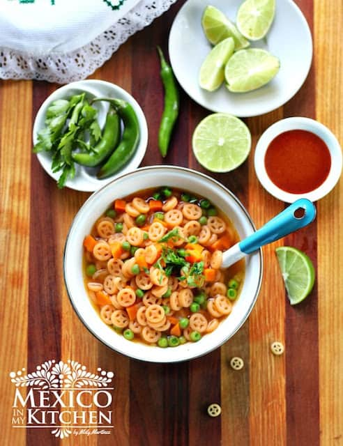 Mexican Pasta Soup Recipe | Mexican Recipes