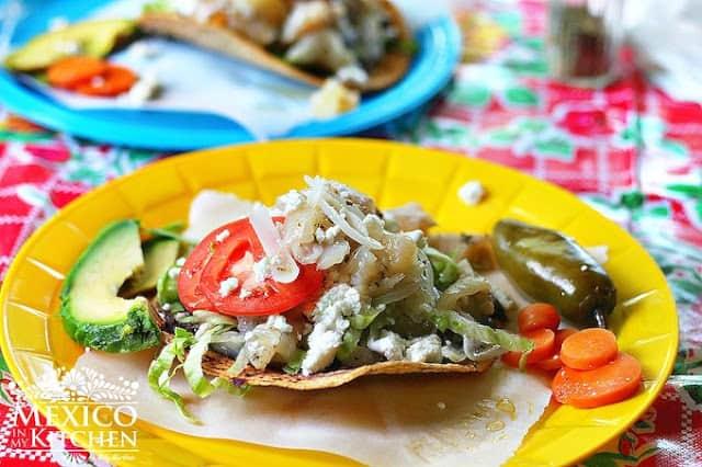 Tostadas de pata de res | authentic Mexican Food Recipes