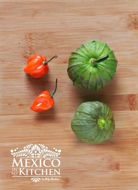 Habanero tomatillo salsa recipe | Ingredients