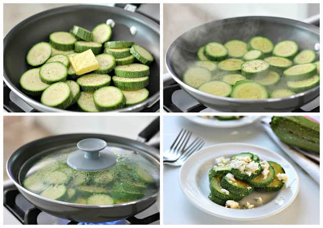 Steamed squash easy recipe | step by step instructions with photos of the process.