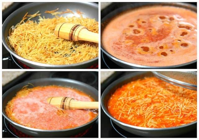mexican noodles, sopa seca de fideos