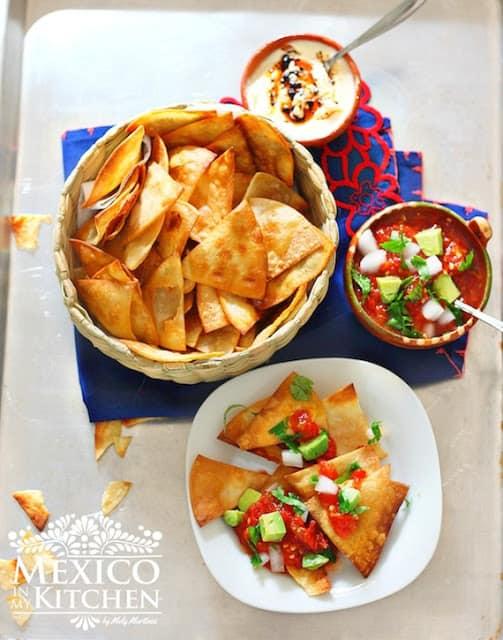 Homemade tortilla chips crispy recipe | Mexican Recipes