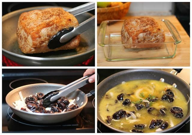 Pork Loin in Prune Sauce recipe | step by step instructions