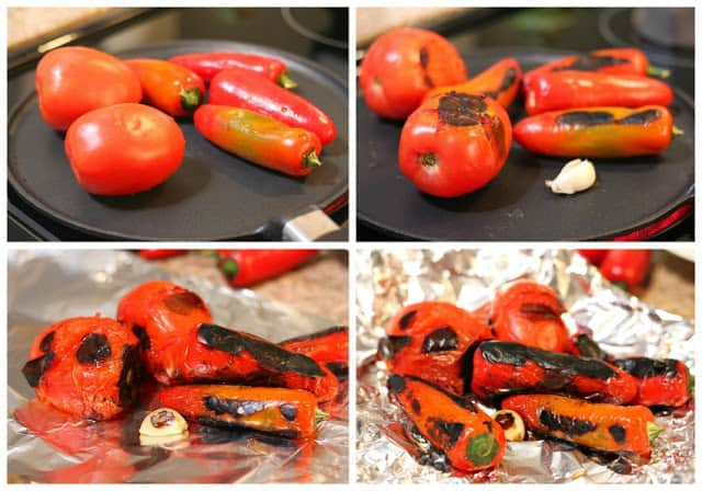 roasted Red Jalapeño Salsa recipe | step by step instructions with photos of the process.