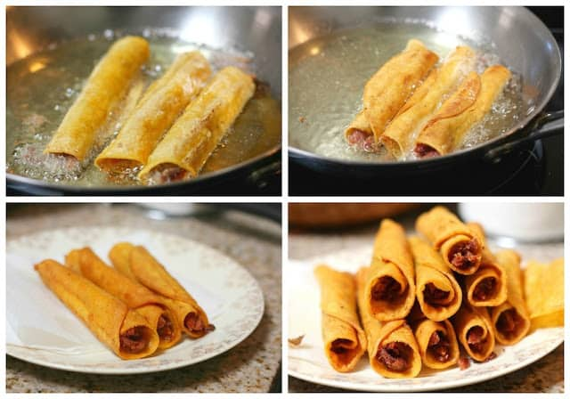Turkey crispy tacos recipe | step by step instructions with photos of the process.