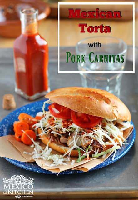 Mexican pork carnitas torta, Learn how to do make it today.