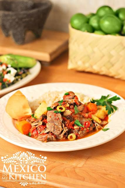 Mexican Beef Stew Recipe, step by step instructions with photos of the process.