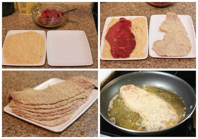 Mexican Milanesa recipe, a step by step photo tutorial with delicious results.